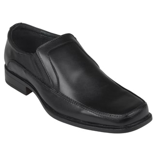 Oxford and Finch Men's Leather Square Toe Slip-on Loafers