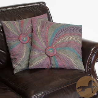 18-inch Grey Flannel Starburst Pillows (Set of 2)