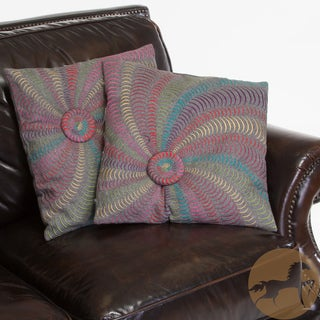 Christopher Knight Home 18-inch Grey Flannel Starburst Pillows (Set of 2)