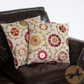 Christopher Knight Home 18-inch Linen Flowers Pillows (Set of 2)