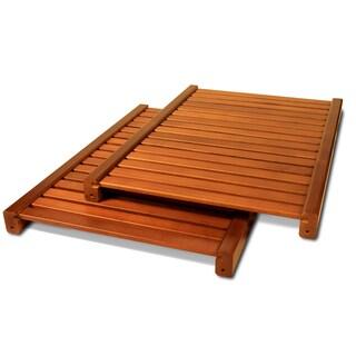 John Louis Woodcrest Caramel Finish Adjustable 16-inch Shelf Kit (Pack of 2)