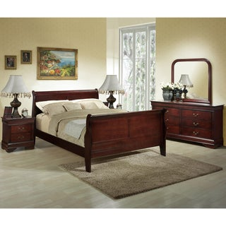 Baxton Studio Hartley Cherry Modern Bedroom Set