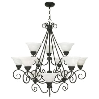 Nuvo Castillo 12-light Textured Black Chandelier