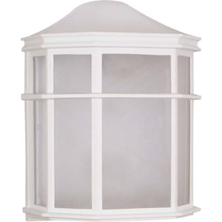 Nuvo 1-light White Cage Lantern Wall Fixture