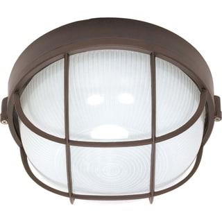 Nuvo Energy Saver 1-light Architectural Bronze Round Cage Bulk Head