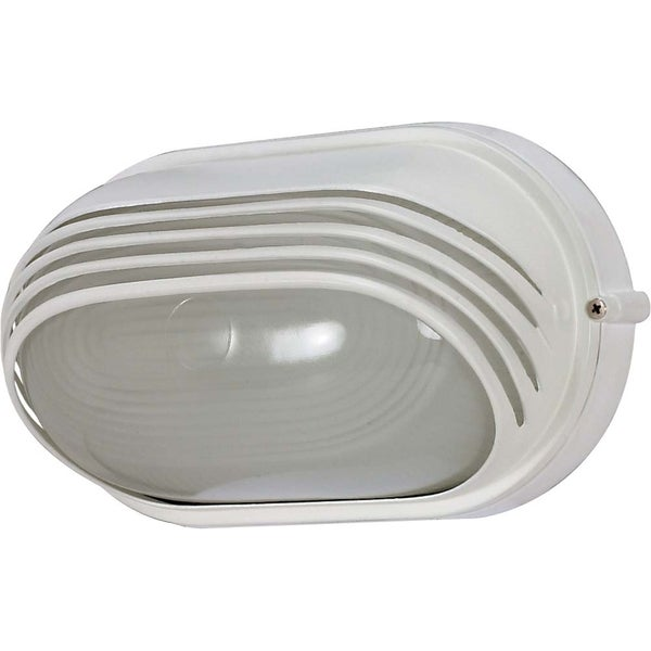 Nuvo Energy Saver 1-light Semi Gloss white Oval Hood Bulk Head