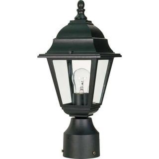 Nuvo Briton 1-light Textured Black Post Lantern