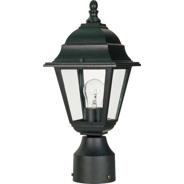 Nuvo Briton 1-light Textured Black Post Lantern