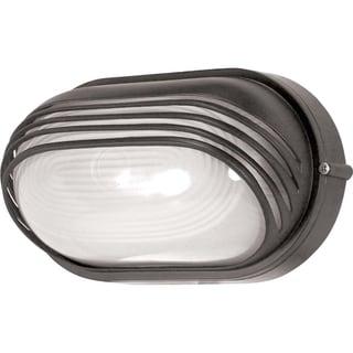 Nuvo Energy Saver 1-light Architectural Bronze Oval Hood Bulk Head