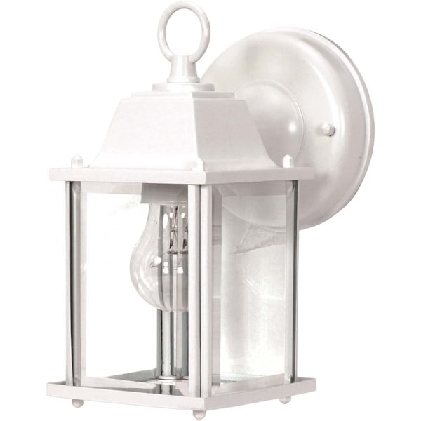 Nuvo 1-light White Cube Wall Lantern