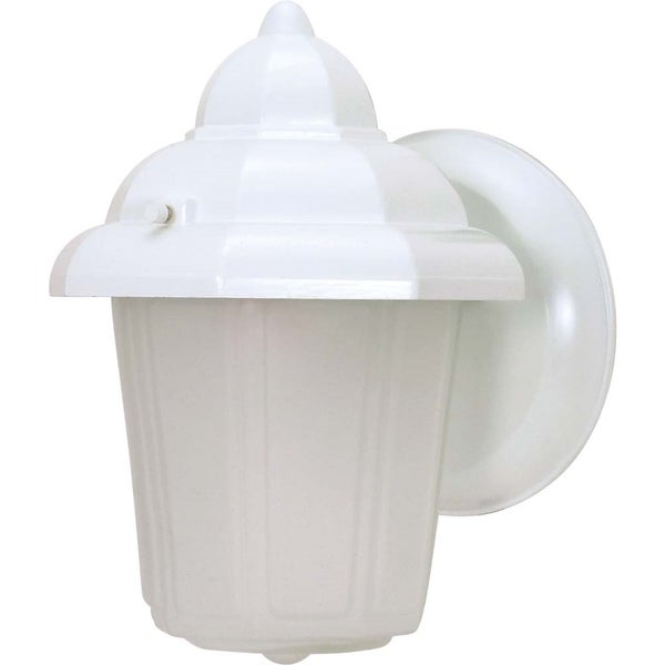 Nuvo 1-light White Hood Wall Lantern