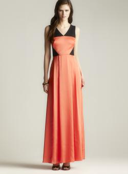 Jessica Simpson Colorblock Pleated Gown