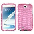 MYBAT Pink/ White Dots Diamante Case for Samsung Galaxy Note 2