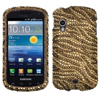 MYBAT Tiger Skin Brown Diamante Case for Samsung I405 Stratosphere
