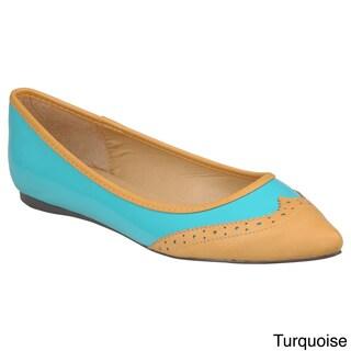 Hailey Jeans Co. Women's 'Mila-10' Patent Almond Toe Flats
