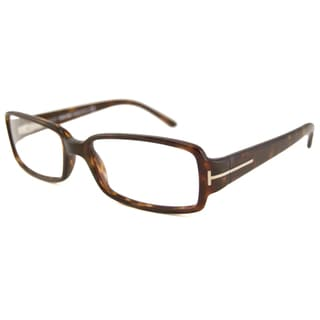 Tom Ford Readers Women's TF5185 Rectangular Havana-Colored Reading Glasses