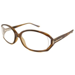 Tom Ford Readers Women's TF5186 Oval Havana Reading Glasses