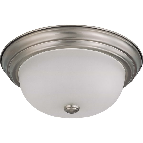 Nuvo Interior Home 2-light Brushed Nickel Flush Mount Fixture