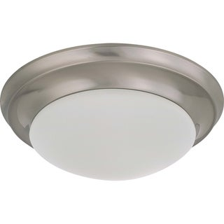 Nuvo Interior Home 1-light Brushed Nickel Flush Mount Fixture