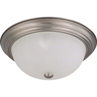 Nuvo Interior Home 3-Light 60-Watt Brushed Nickel Flush Mount Fixture