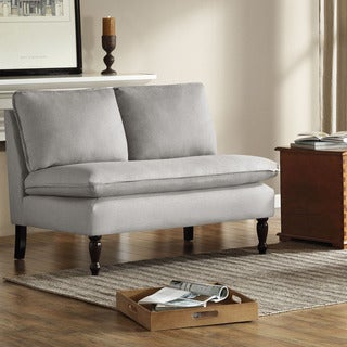 Toulouse French Seams Grey Loveseat