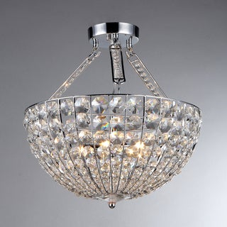 'Hestia' Chrome and Crystal 5-light Pendant Chandelier