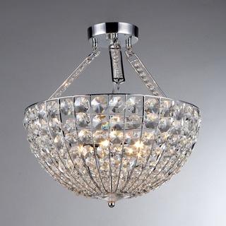 'Hestia' Chrome and Crystal 5-light Pendant Chandelier
