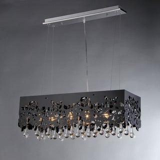 'Apollon' Black Shaded 6-light Crystal Chandelier