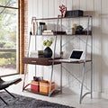 Altra Ladder Desk with Tower Bookcase