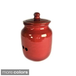 Hand-made Ceramic Glazed Onion Storage Pot