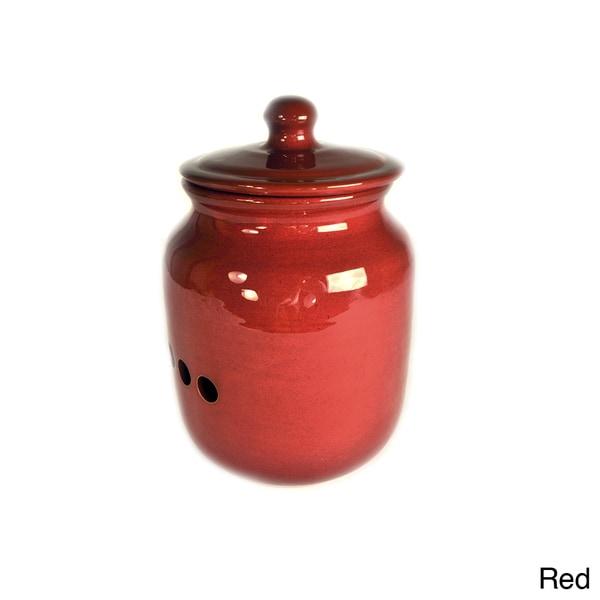 Hand-made Ceramic Glazed Onion Storage Pot