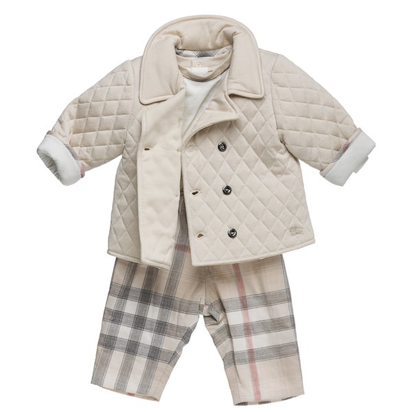 Burberry Boys Quilted Jacket And New Nova Pant Set Burberry Boys Sets
