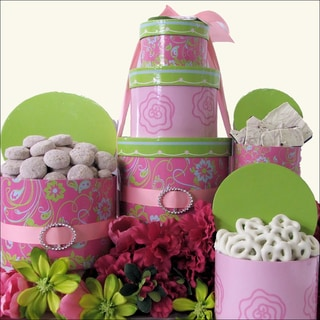 Spring Flowers Mother's Day Gift Tower