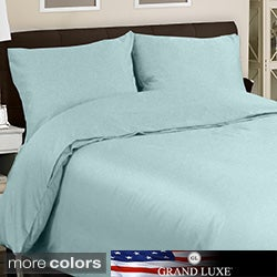 Grand Luxe Egyptian Cotton Sateen 300 Thread Count 3-piece Mini Duvet Cover Set