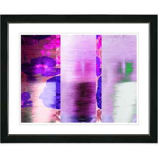 Studio Works Modern 'Carrots and Poppies - Pink' Framed Print