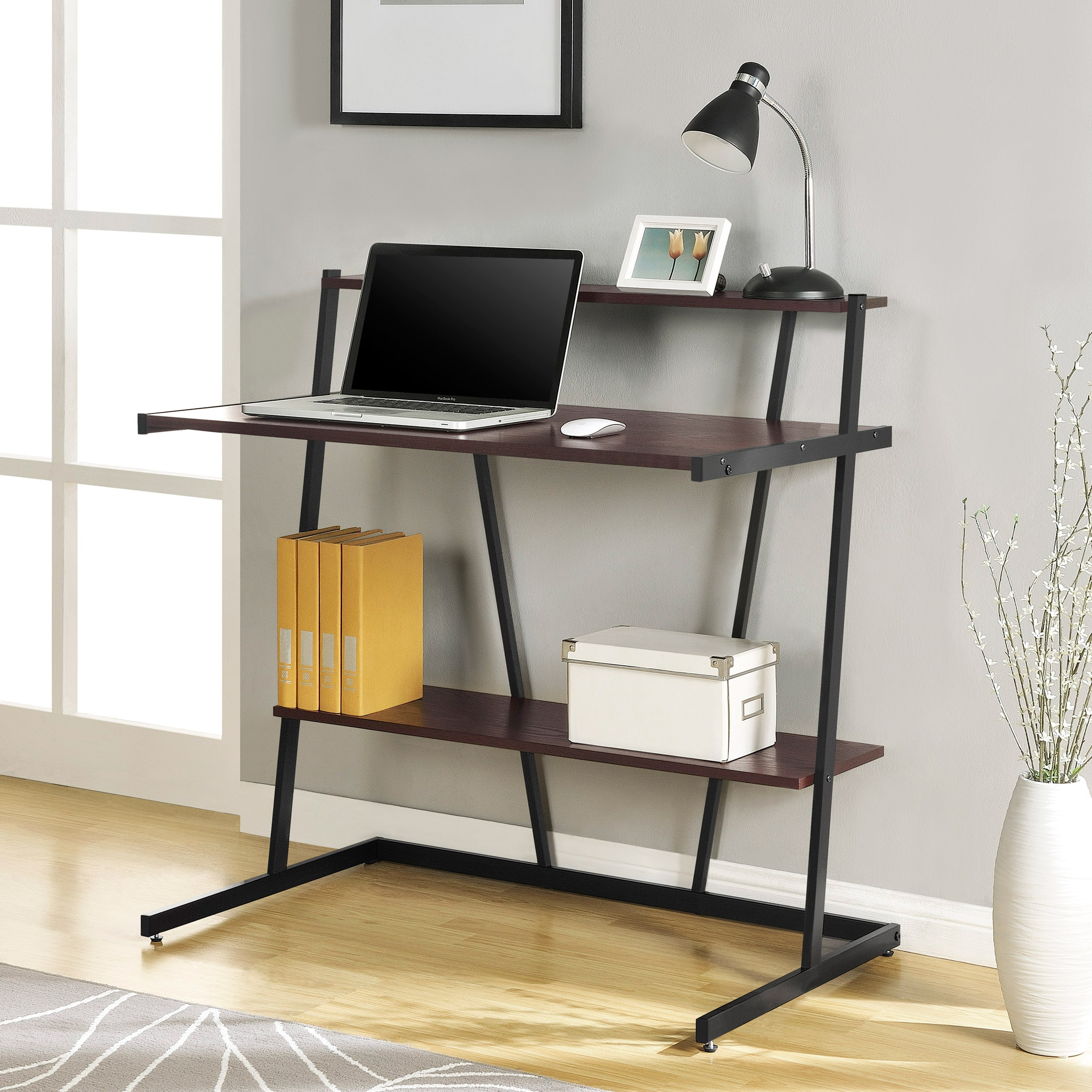 Altra Compact Cherry Finish Computer Desk with Shelf at Sears.com