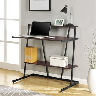 Altra Compact Cherry Finish Computer Desk with Shelf