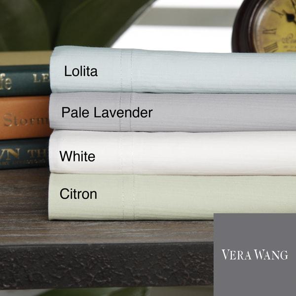 Vera Wang Shadow Stripe Cotton Sheet Set