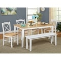 Tiffany 6-piece Dining Set with Bench