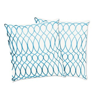 Lush Decor Ginna Turquoise Decorative Pillows (Set of 2)