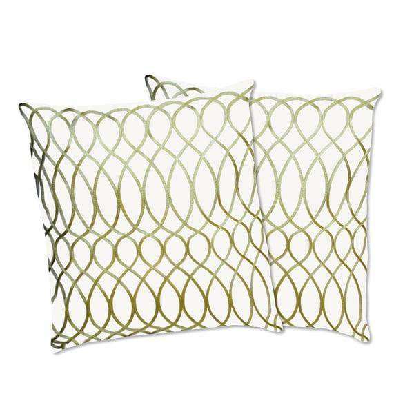 Lush Decor Ginna Apple Green Decorative Pillows (Set of 2)