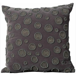 Mina Victory Luminecence Charcoal Circles 20 x 20-inch Decorative Pillow