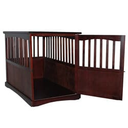 Espresso Wooden Furniture Pet Crate