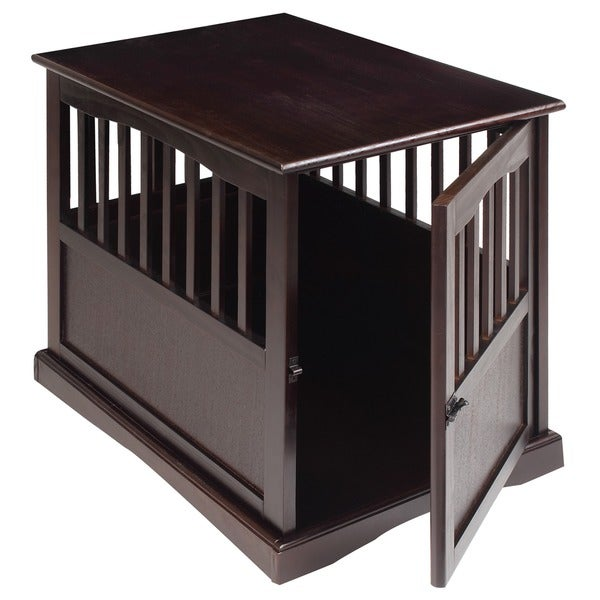 Large Wooden Pet Crate End Table Furniture Dog Kennel House Decor