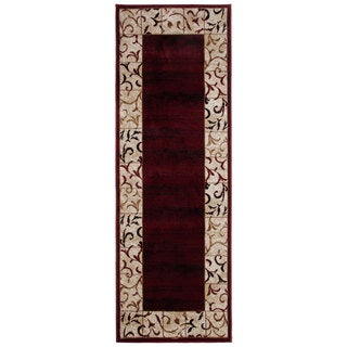 Bursa Burgundy Area Rug Runner (2'8x6'7)