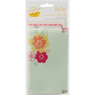 Amy Tangerine Yes Please Adhesive Vellum Pockets-Brainstorm