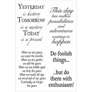 """Woodware Clear Stamps 4""""X6"""" Sheet-Inspirational Verses"""