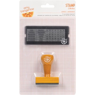 Amy Tangerine Yes Please Calendar Stamp Set-
