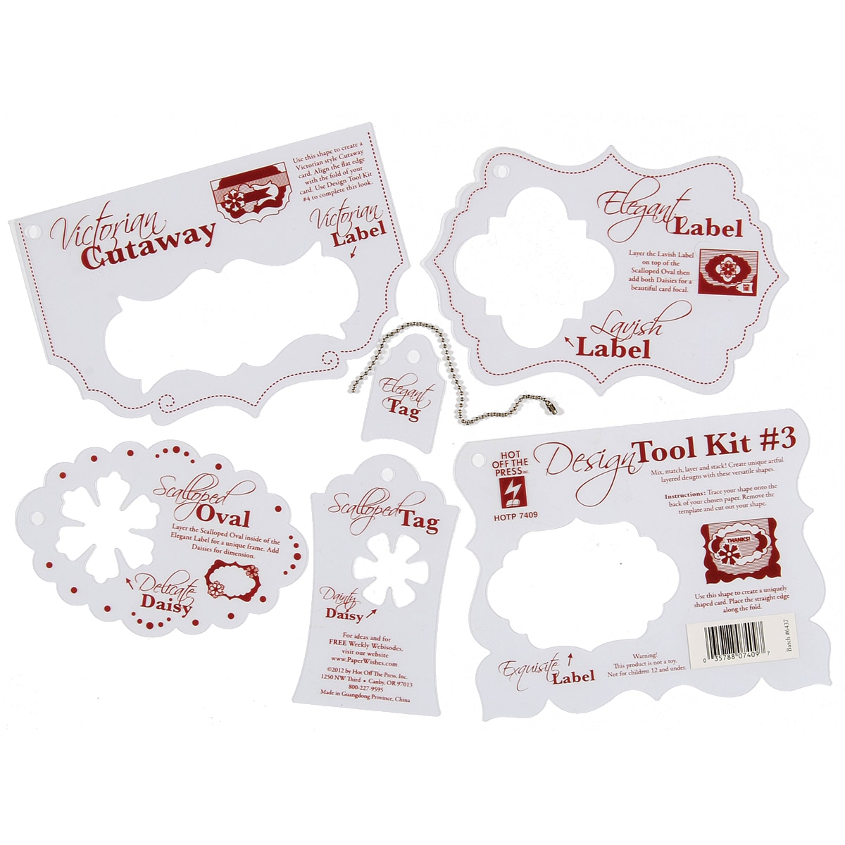 Hot Off The Press Stencil Template-Tool Kit #3 at Sears.com