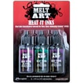 Melt Art Heat It Inks-Luxurious Gems-Emerald, Amethyst & Pink Tourmeline